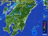 2015年08月17日の宮崎県の雨雲の動き