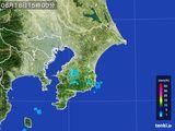 2015年08月18日の千葉県の雨雲レーダー