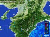 2015年08月18日の奈良県の雨雲レーダー