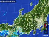 2015年08月19日の北陸地方の雨雲の動き
