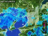 2015年08月19日の大阪府の雨雲レーダー