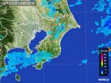 2015年08月20日の千葉県の雨雲レーダー