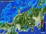 2015年08月21日の北陸地方の雨雲の動き