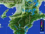 2015年08月21日の奈良県の雨雲レーダー