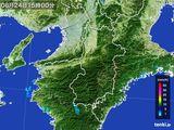 2015年08月24日の奈良県の雨雲レーダー