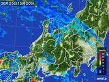 2015年08月25日の北陸地方の雨雲の動き