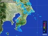 2015年08月25日の千葉県の雨雲レーダー
