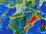 2015年08月25日の奈良県の雨雲レーダー