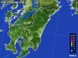 2015年08月25日の宮崎県の雨雲の動き