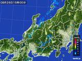 2015年08月26日の北陸地方の雨雲の動き