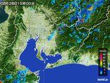 2015年08月26日の愛知県の雨雲の動き