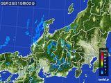 2015年08月28日の北陸地方の雨雲の動き