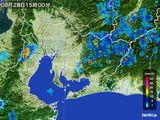 2015年08月28日の愛知県の雨雲の動き
