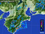 雨雲の動き(2015年08月28日)