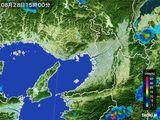 2015年08月28日の大阪府の雨雲レーダー