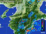 2015年08月28日の奈良県の雨雲レーダー