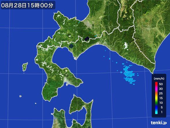 道南の雨雲の動き(2015年08月28日)