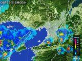 2015年08月29日の大阪府の雨雲レーダー