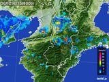 2015年08月29日の奈良県の雨雲レーダー