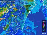 2015年08月29日の宮崎県の雨雲の動き