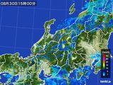2015年08月30日の北陸地方の雨雲の動き