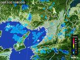 2015年08月30日の大阪府の雨雲レーダー