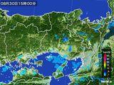 2015年08月30日の兵庫県の雨雲レーダー