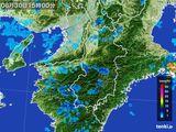 2015年08月30日の奈良県の雨雲レーダー