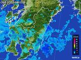 2015年08月30日の宮崎県の雨雲の動き