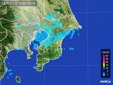 2015年08月31日の千葉県の雨雲レーダー