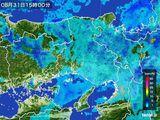 2015年08月31日の兵庫県の雨雲レーダー