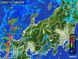 2015年09月01日の北陸地方の雨雲の動き