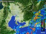 2015年09月01日の愛知県の雨雲の動き