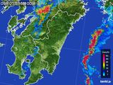 2015年09月01日の宮崎県の雨雲の動き