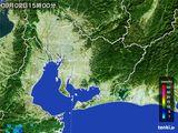 2015年09月02日の愛知県の雨雲の動き