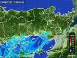 2015年09月02日の兵庫県の雨雲レーダー