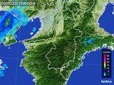2015年09月02日の奈良県の雨雲レーダー