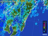 2015年09月02日の宮崎県の雨雲の動き