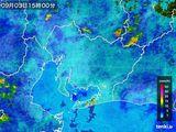 2015年09月03日の愛知県の雨雲の動き