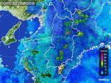 2015年09月03日の奈良県の雨雲レーダー