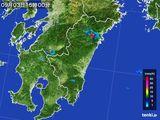 2015年09月03日の宮崎県の雨雲の動き