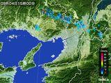 2015年09月04日の大阪府の雨雲レーダー