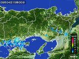 2015年09月04日の兵庫県の雨雲レーダー