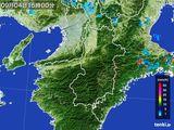 2015年09月04日の奈良県の雨雲レーダー