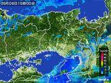 2015年09月06日の兵庫県の雨雲レーダー
