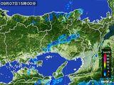 2015年09月07日の兵庫県の雨雲レーダー