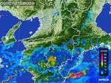 2015年09月07日の奈良県の雨雲レーダー