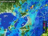 2015年09月08日の大阪府の雨雲レーダー