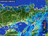 2015年09月08日の兵庫県の雨雲レーダー