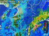 2015年09月08日の奈良県の雨雲レーダー